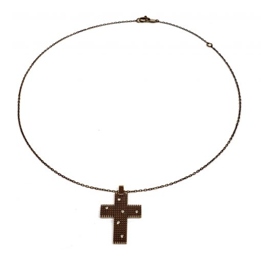 Damiani Metropolitan Dream Cross Pendant, 18K Blackened Gold And Diamonds, 20038930 4