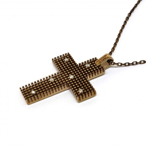 Damiani Metropolitan Dream Cross Pendant, 18K Blackened Gold And Diamonds, 20038930 3