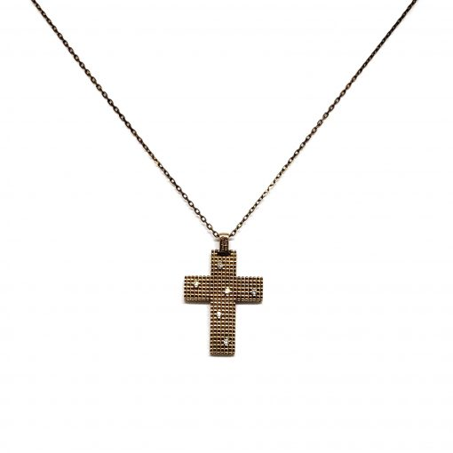 Damiani Metropolitan Dream Cross Pendant, 18K Blackened Gold And Diamonds, 20038930