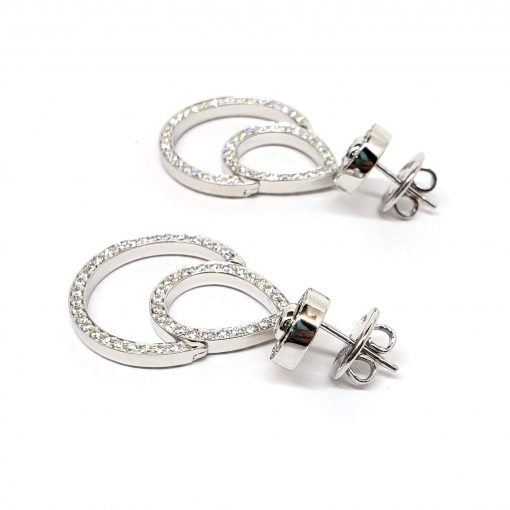 Damiani Eclisse Earrings With 18K White Gold And Diamonds, 20015300 7