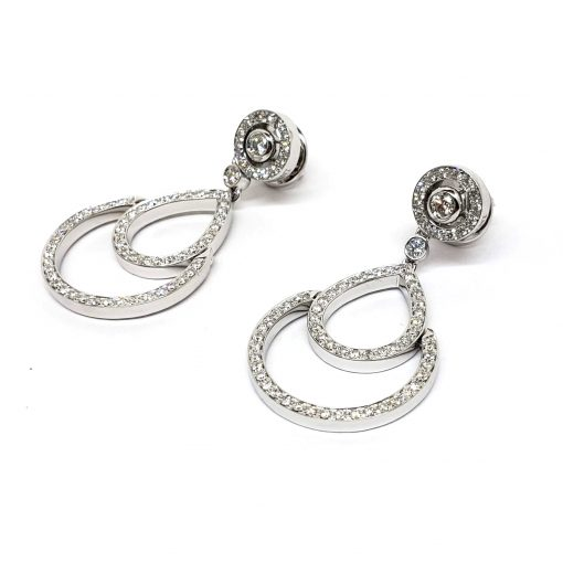Damiani Eclisse Earrings With 18K White Gold And Diamonds, 20015300 6