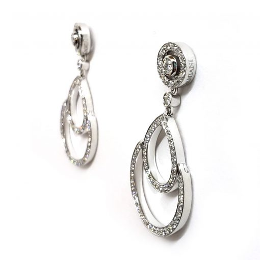 Damiani Eclisse Earrings With 18K White Gold And Diamonds, 20015300 4