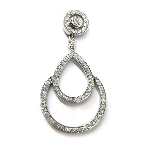 Damiani Eclisse Earrings With 18K White Gold And Diamonds, 20015300 5
