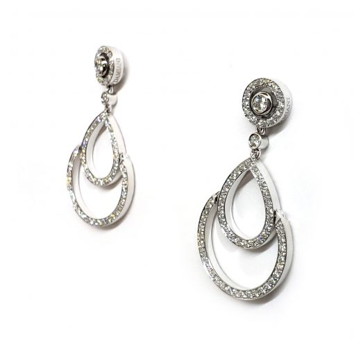 Damiani Eclisse Earrings With 18K White Gold And Diamonds, 20015300 3