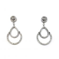 Damiani Eclisse Earrings With 18K White Gold And Diamonds 20015300