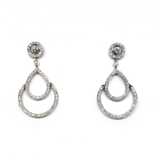 Damiani Eclisse Earrings With 18K White Gold And Diamonds, 20015300
