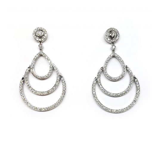 Damiani Eclisse Earrings With 18K White Gold And Diamonds, 20015301 4