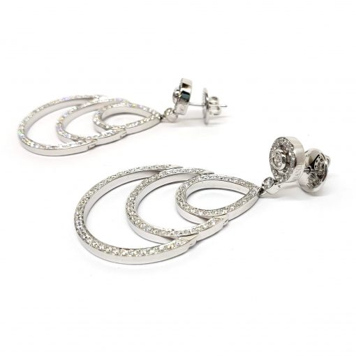 Damiani Eclisse Earrings With 18K White Gold And Diamonds, 20015301 5