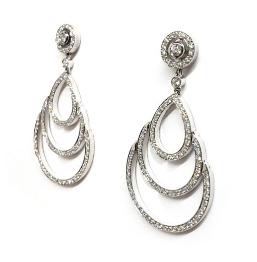 Damiani Eclisse Earrings With 18K White Gold And Diamonds, 20015301 3