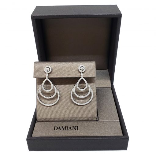 Damiani Eclisse Earrings With 18K White Gold And Diamonds, 20015301 2