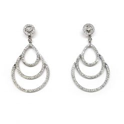 Damiani Eclisse Earrings With 18K White Gold And Diamonds 20015301