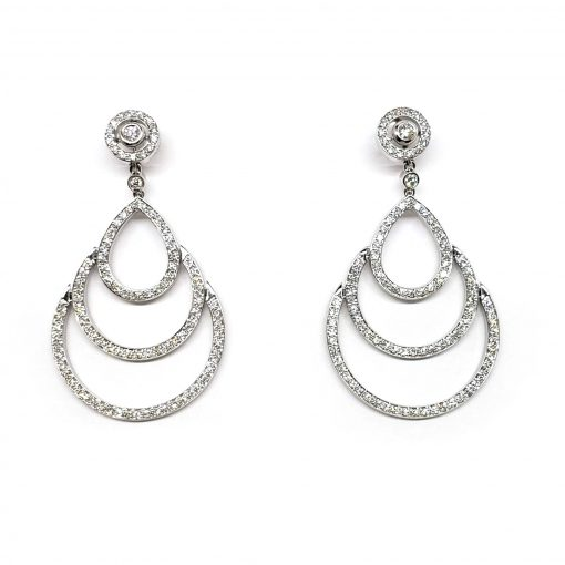 Damiani Eclisse Earrings With 18K White Gold And Diamonds, 20015301