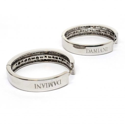 Damiani Hoop Earrings With 18K White Gold And Diamonds, 20030284 6