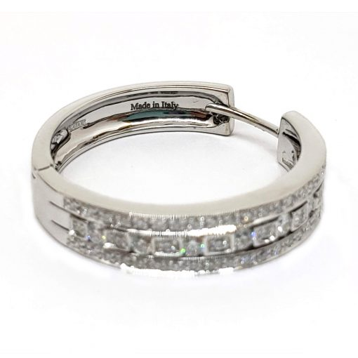 Damiani Hoop Earrings With 18K White Gold And Diamonds, 20030284 4