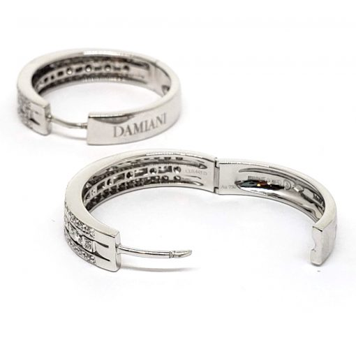 Damiani Hoop Earrings With 18K White Gold And Diamonds, 20030284 5