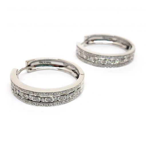 Damiani Hoop Earrings With 18K White Gold And Diamonds, 20030284 3