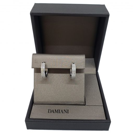 Damiani Hoop Earrings With 18K White Gold And Diamonds, 20030284 2