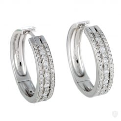 Damiani Hoop Earrings With 18K White Gold And Diamonds 20030284