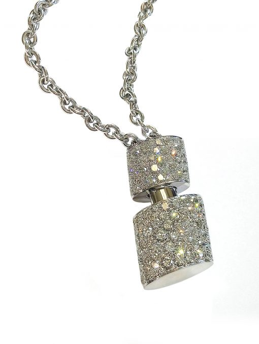 De Grisogono Tubetto Pendant with White Gold and Diamonds, 95302/01 2