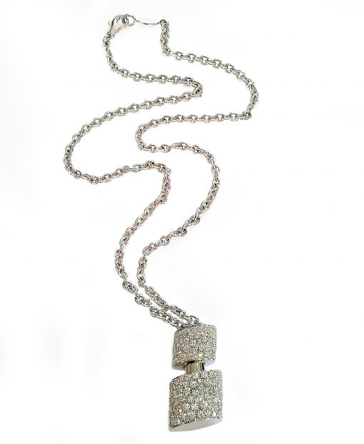 De Grisogono Tubetto Pendant with White Gold and Diamonds, 95302/01 3