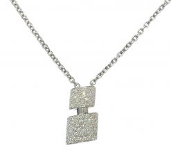 De Grisogono Tubetto Pendant with White Gold and Diamonds 95302/01