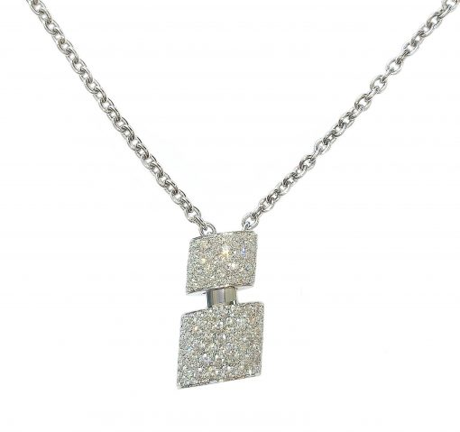 De Grisogono Tubetto Pendant with White Gold and Diamonds, 95302/01