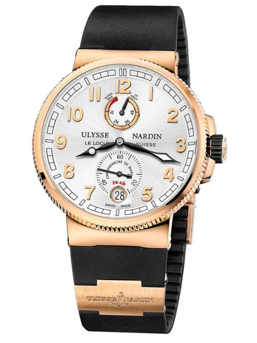 Ulysse Nardin Marine Chronometer 18K Rose Gold Men's Watch, preowned.1186-126-3/61