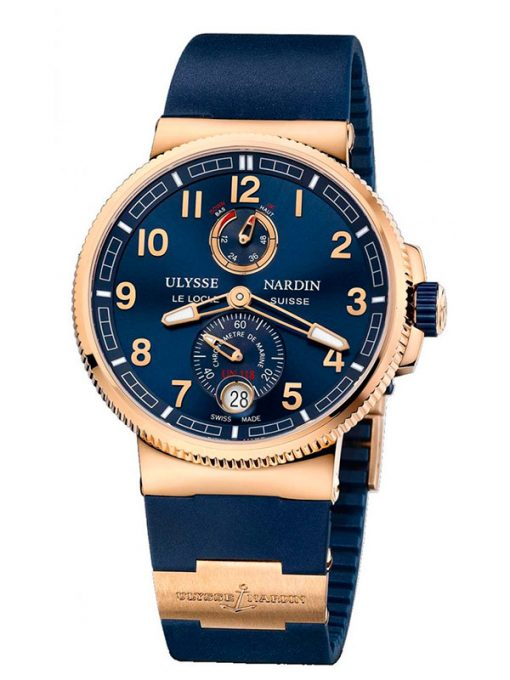 Ulysse Nardin Marine Chronometer 18K Rose Gold Men's Watch, preowned.1186-126-3/63