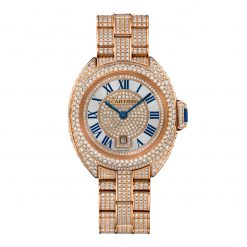 Clé De Cartier 18K Pink Gold & Diamonds Lady's Watch on a Bracelet HPI01039