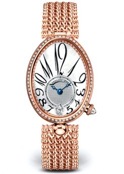 Breguet Reine De Naples 8918 18K Rose Gold & Diamonds Ladies Watch 8918BR/58/J20/D000