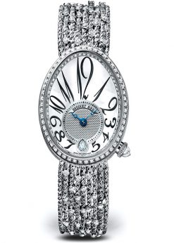 Breguet Reine De Naples 8918 18K White Gold & Diamonds Ladies Watch 8918BB/58/J31/D0DD