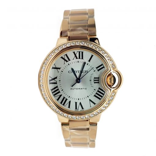 Cartier Ballon Bleu 33mm 18K Pink Gold and Diamonds Watch, WJBB0036