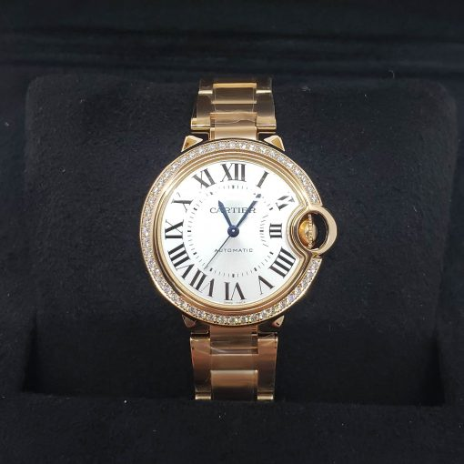 Cartier Ballon Bleu 33mm 18K Pink Gold and Diamonds Watch, WJBB0036 3