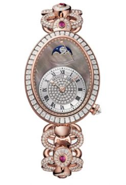 Brequet Reine de Naples 8909 18K Rose Gold & Diamonds & Rubies Ladies… 8909BR/8T/J29/DDDR