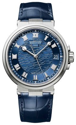 Brequet Marine 5517 18K White Gold Men's Watch 5517BB/Y2/9ZU
