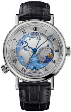 Brequet Hora Mundi 5717 Platinum Men's Watch 5717PT/EU/9ZU