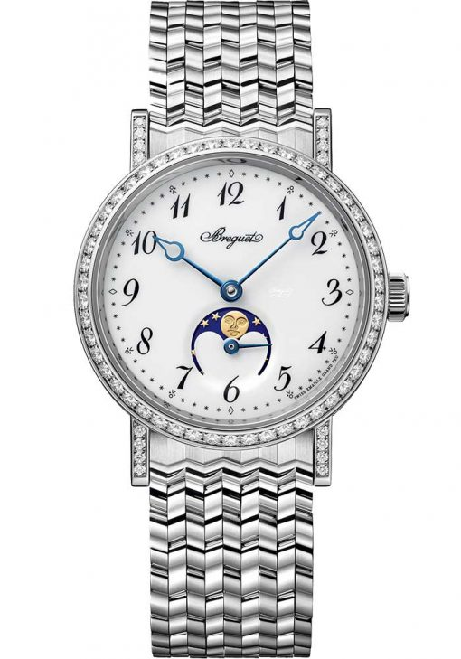 Brequet Classique Dame 9087 18K White Gold & Diamonds Ladies Watch, 9088BB/29/BC0/DD00