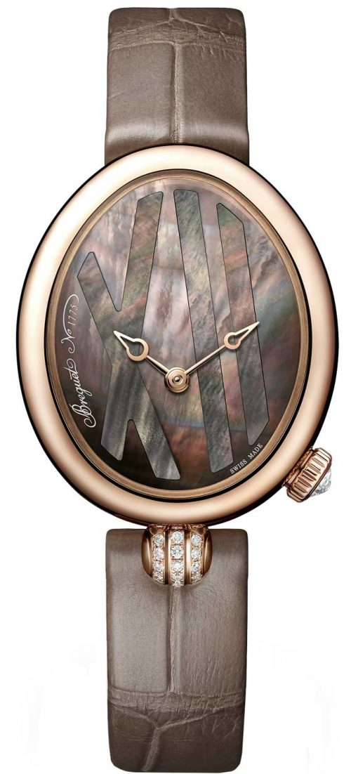 Breguet Reine De Naples 9808 18K Rose Gold & Diamonds Ladies Watch, 9808BR/5T/922/0D00