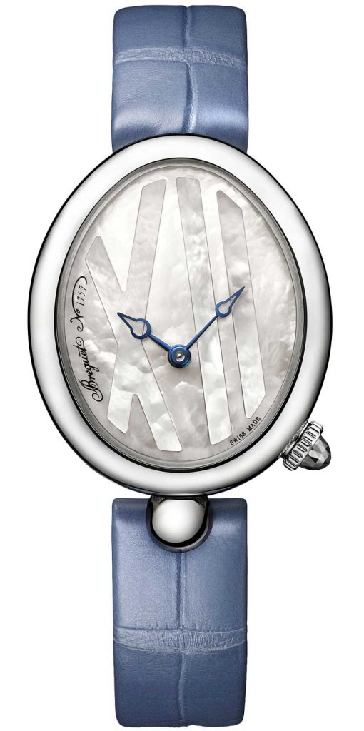 Breguet Reine De Naples 9807 Stainless Steel Ladies Watch, 9807ST/5W/922