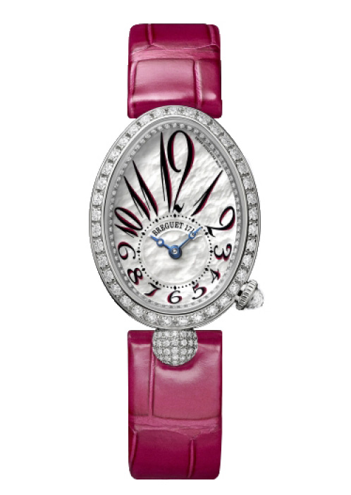 Breguet Reine De Naples 8928 18K White Gold & Diamonds Ladies Watch, 8928BB/5P/944-DD0D