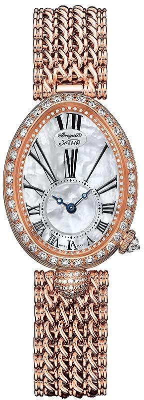 Breguet Reine De Naples 8928 18K Rose Gold & Diamonds Ladies Watch, 8928BR/51/J20/DD00