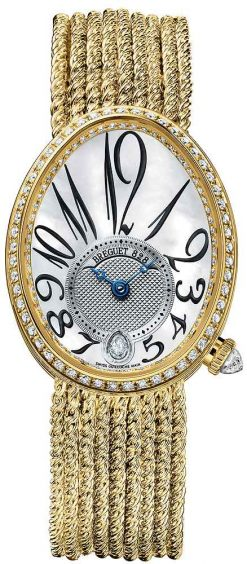 Breguet Reine De Naples 8918 18K Yellow Gold & Diamonds Ladies Watch 8918BA/58/J39/D00D