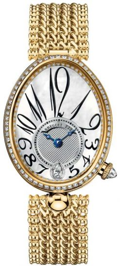 Breguet Reine De Naples 8918 18K Yellow Gold & Diamonds Ladies Watch 8918BA/58/J20/D000
