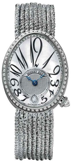 Breguet Reine De Naples 8918 18K White Gold & Diamonds Ladies Watch 8918BB/58/J39/D00D