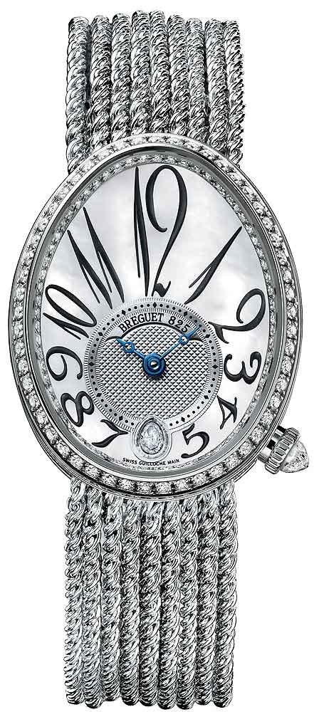 Breguet Reine De Naples 8918 18K White Gold & Diamonds Ladies Watch, 8918BB/58/J39/D00D