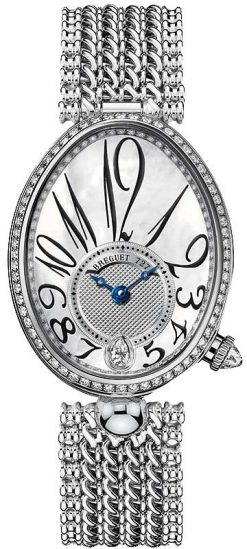 Breguet Reine De Naples 8918 18K White Gold & Diamonds Ladies Watch 8918BB/58/J20/D000