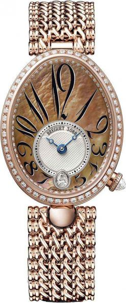 Breguet Reine De Naples 8918 18K Rose Gold & Diamonds Ladies Watch 8918BR/5T/J20-D000