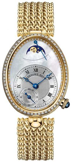 Breguet Reine De Naples 8908 18K Yellow Gold & Diamonds Ladies Watch 8908BA/52/J20/D000