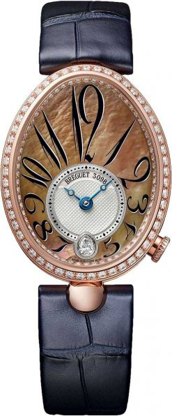 Breguet Reine De Naples 8918 18K Rose Gold & Diamonds Ladies Watch 8918BR/5T/964-D00D