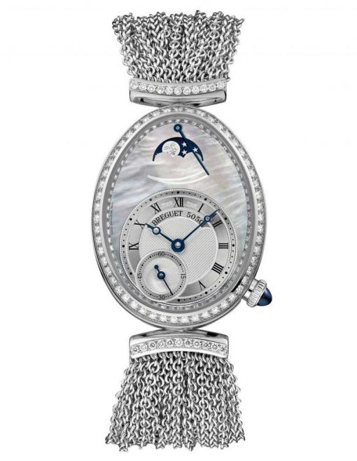Breguet Reine De Naples 8908 18K White Gold & Diamonds Ladies Watch, 8908BB/5T/J70/D0DD